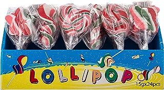 Quanwang 6 Shapes Mixed Fruit Lollipops, 15 gm (Pack of 24)