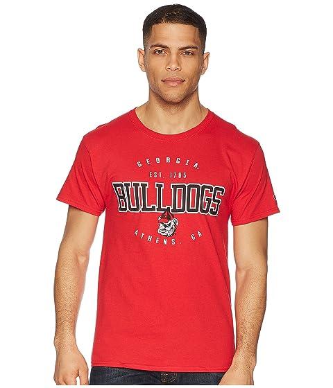Champion escarlata Jersey Bulldogs Georgia 2 Tee College BrqOBwY