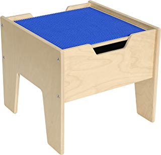 2-N-1 Activity Table with Blue Lego Compatible Top - RTA