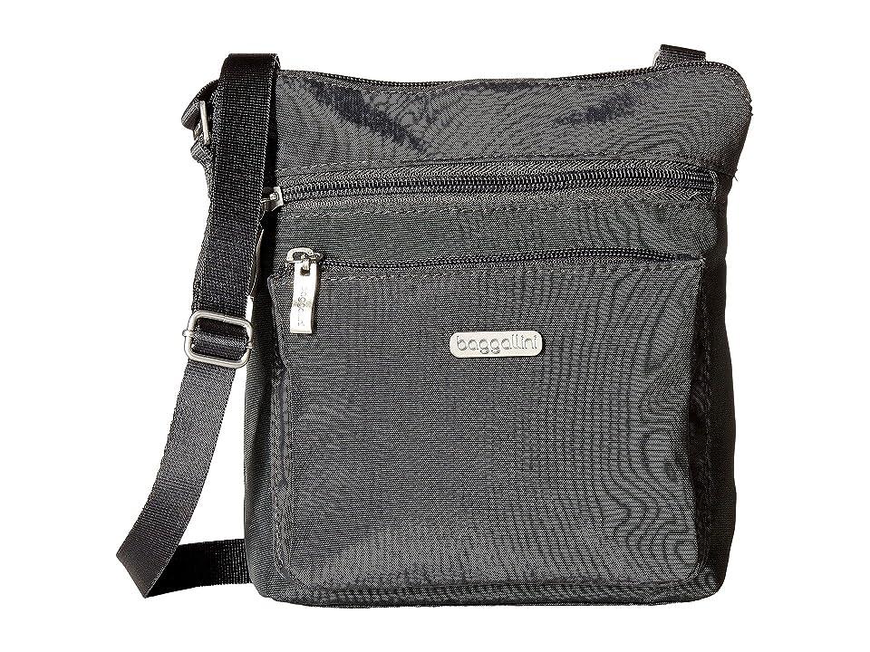 Baggallini Crossbody Bag w/ RFID Wristlet (Charcoal) Cross Body Handbags