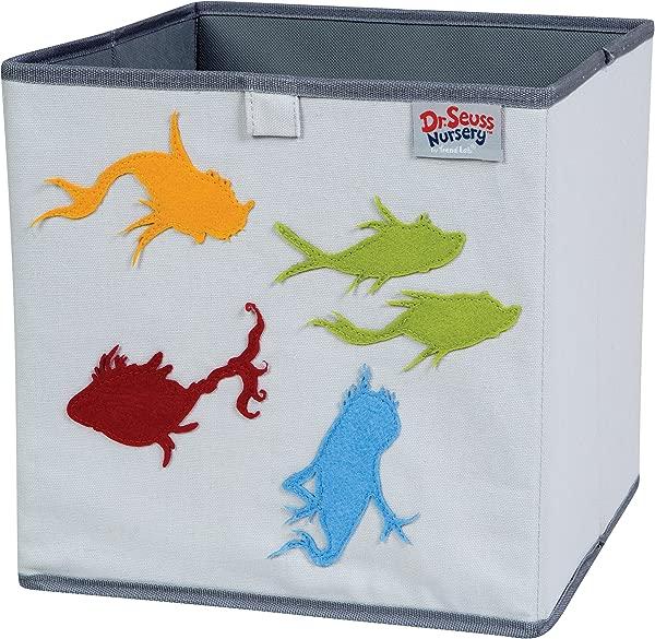 Trend Lab Dr Seuss Fish Storage Bin Yellow Green Red Blue Gray