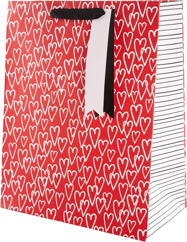 Hallmark - Bolsa de regalo (tamaño grande), diseño de corazones