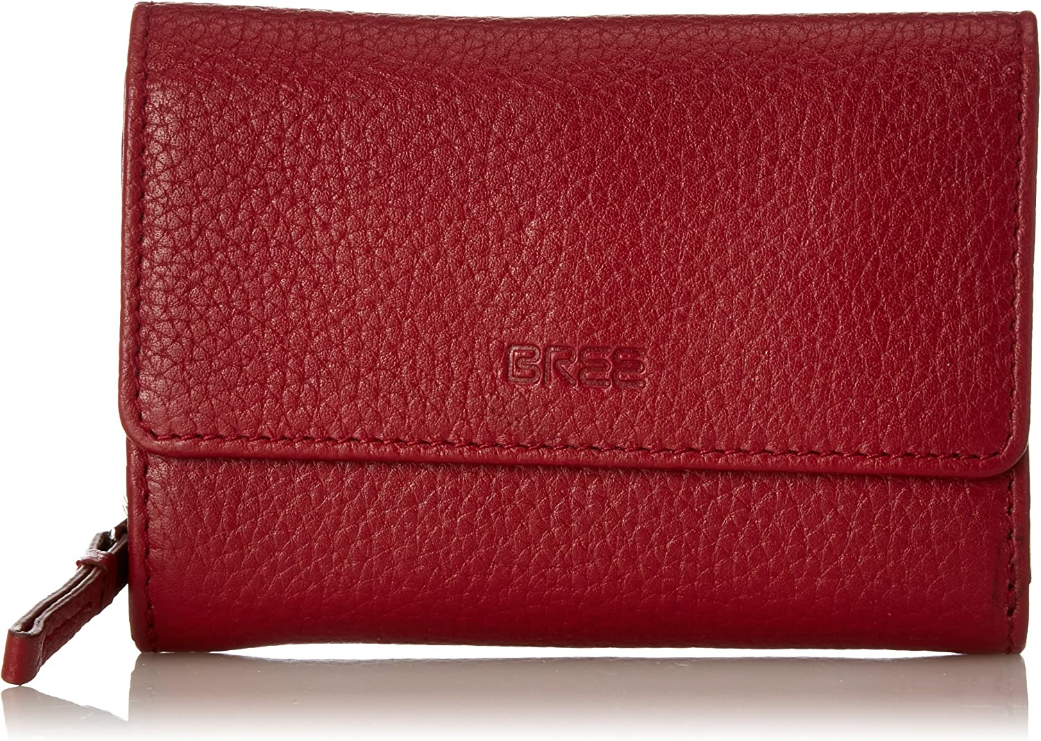 BREE Liv 108, Brick Red, Zipped Combi. Purse, Women's Wallet, red (Brick Red), 2x11.5x13 cm (B x H T)