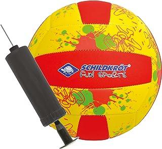 Schildkroet-Funsports Unisex Adult Neoprene Beach Including Pump Volleyball - Multi-Colour, Small