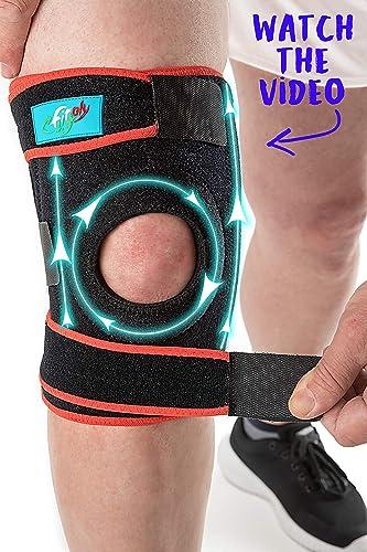 FitFitaly Genouillère Rotulienne pour Protection des Ligaments, Rotule et Menisque pour le Sport