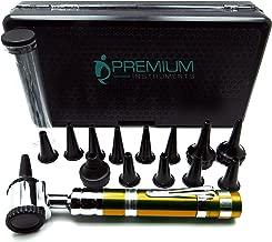ENT Set Otoscope Fancy Golden Handle Speculas 2.5mm, 3.5mm, 4.5mm, Small, Disposables Diagnostic Instruments
