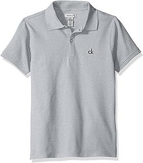 Calvin Klein Boys' Solid Pique Polo