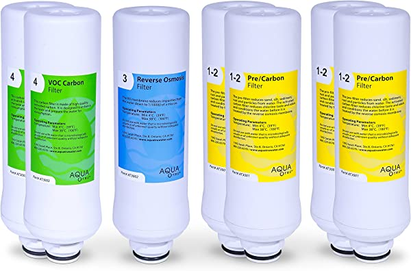 AQUA TRU 2 Year Combo Pack Includes 4 Pre Filters 2 Carbon Filters And 1 RO Filter Countertop Reverse Osmosis Water Purification System