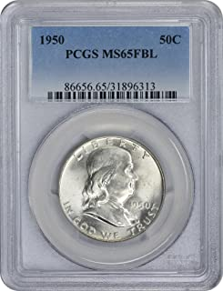 1950-P Franklin Half Dollar, MS65FBL, PCGS
