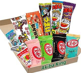Kit Kat chocolate & trial Japanese Dagashi Box Umaibo Snack Gummy potato Chip w/ AKIBA KING Sticker