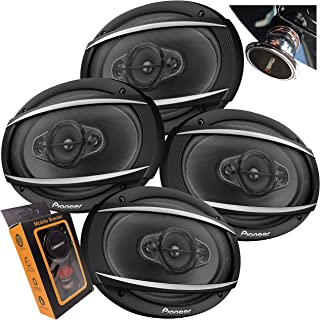 $149 » 4X Pioneer TS-A6977S A-Series 6″ x 9″ 4-Way 650 Watts Car Audio Speaker (100W RMS) 2 Pairs with Gravity Magnet Phone Holde...