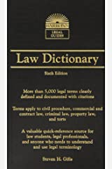 Barron's Law Dictionary: Mass Market Edition (Barron's Legal Guides) Mass Market Paperback