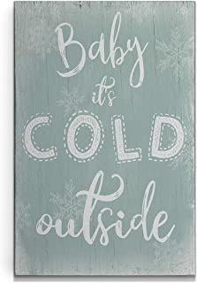 Renditions Gallery Cold Outside' by CAD Designs Gallery Wrapped Canvas Christmas Wall Art, 16x20