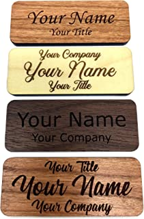 Fisharply Employee Name Tags (Cherry, 2.5