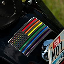 Pride Bumper Sticker Rainbow Flag – 3D Premium Quality Gay Pride Stickers for Cars – 2 in Pack Gay Car Decals 5.7 х 3 Inch...