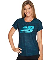 New Balance - Accelerate Short Sleeve Printed