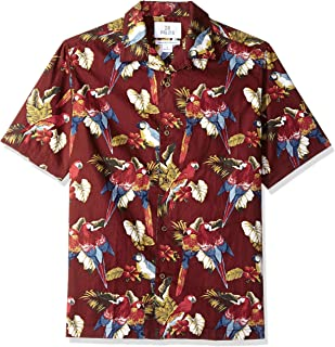 Amazon Brand - 28 Palms Men's Relaxed-Fit 100% Cotton Tropical Hawaiian Shirt