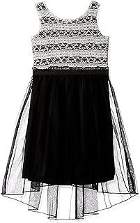 Speechless Girls' Big Lace Stripe/Chiffon Dress