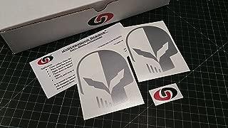 UNDERGROUND DESIGNS C7 Skull Two-Face Decal Corvette Jake Skull Sticker Z06 Z07 LT1 LT4 Select Color: