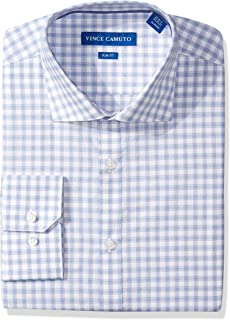Men's Slim Fit Dobby Plaid Dress Shirt