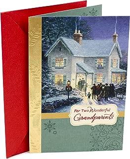 Hallmark Thomas Kinkade Christmas Card for Grandparents (Carolers)