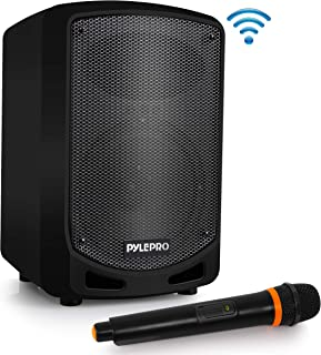 Pyle Bluetooth Karaoke PA Speaker – Indoor / Outdoor Portable Sound System with..