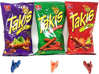 Takis Variety Pack Bundle with Bag Clips
