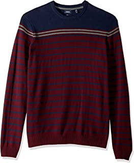 IZOD Men's Big and Tall Newport Fine 7 Gauge Stripe Crew Sweater