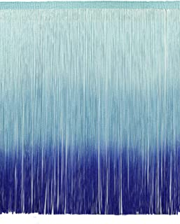 12 Inch Chainette Fringe Trim, Style# CF12 Color: Tie Dye Blue - TDD, Sold By the Yard