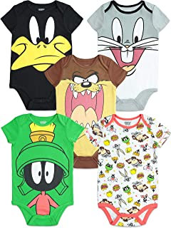 Looney Tunes Infant Baby Boy Girl 5 Pack Bodysuit