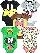 Warner Bros. Looney Tunes Infant Baby Boy Girl 5 Pack Bodysuit