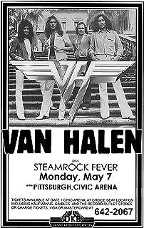 Innerwallz Van Halen Steamrock Fever Civic Arena 1979 Live Concert Retro Art Concert Poster — Features David Lee Roth, Eddie Van Halen, Alex Van Halen and Wolfgang Van Halen.