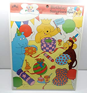 Golden Books Frame Tray Puzzle 10701 Birthday Surprises Fun with Spot 3 & Up