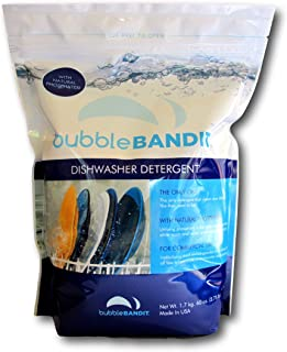 Bubble Bandit Dishwasher Detergent with Phosphate. The Best Dishwasher Detergent for Spotless Dishes in Hard