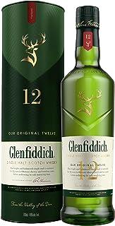Glenfiddich Single Malt Scotch Whisky 12 Jahre – der am häufigsten ausgezeichnete Malt Scotch Whisky der Welt, 1 x 0,7 l, 40% Vol.