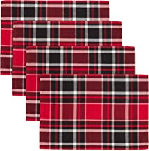 Fennco Styles Classic Plaid Design Tabletop Collection (14x20 Placemat-Set of 4, 2)