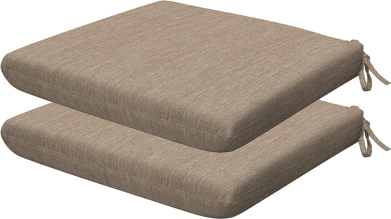 Honeycomb Indoor Max 45% OFF Outdoor Textured Solid Seat Charlotte Mall Tan Birch Universal