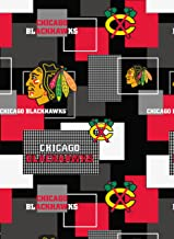 Chicago Blackhawks Cotton Fabric New Block Allover Pattern-Sold by The Yard