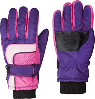 Insulated Winter Cold Weather Ski Gloves for Kids (Boys and Girls) Waterproof Windproof