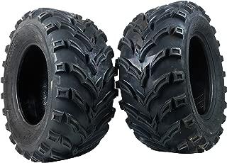 One Pair of MASSFX P377 ATV/UTV Rear Tires 25x10-12 Rear Set of 2 25x10x12
