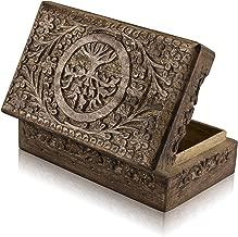 Great Birthday Gift Ideas Handmade Decorative Tree of Life Wooden Jewelry Box Treasure Box Jewelry Organizer Keepsake Box Treasure Chest Trinket Holder Lock Box Watch Box 8 x 5 Inch Gifts for her