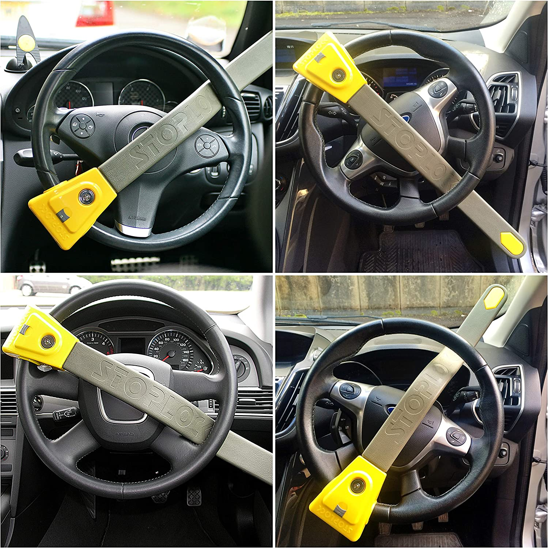 Stoplock Yellow//Grey 1 Unit HG 134-66 Steering Wheel Lock