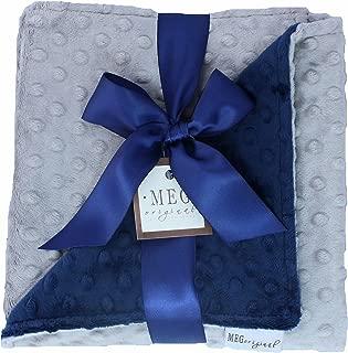 blue minky dot blanket