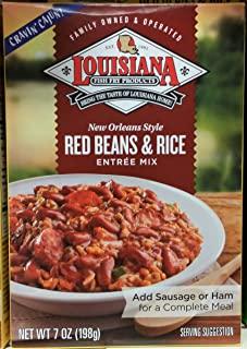 Louisiana Red Beans & Rice Entree Mix 7 oz (Pack of 3)