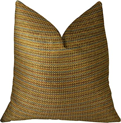 "Plutus Brands Plutus Chuleta Handmade Throw Pillow, 16"" x 16"", Copper/Brown"