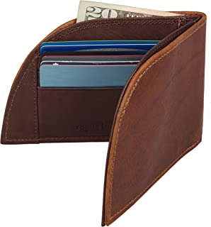 Front Pocket Wallet by Rogue Industries - Genuine American Bison Leather with RFID Block - Brown