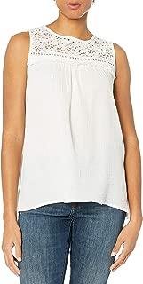 Max Studio Women's Cotton Gauze Sleeveless Blouse