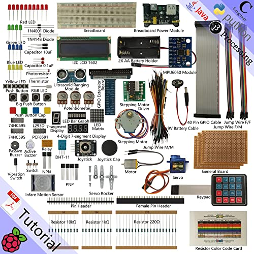 Freenove Ultimate Starter Kit for Raspberry Pi, Model 3B+ 3B 3A+ 2B 1B+ 1A+ Zero