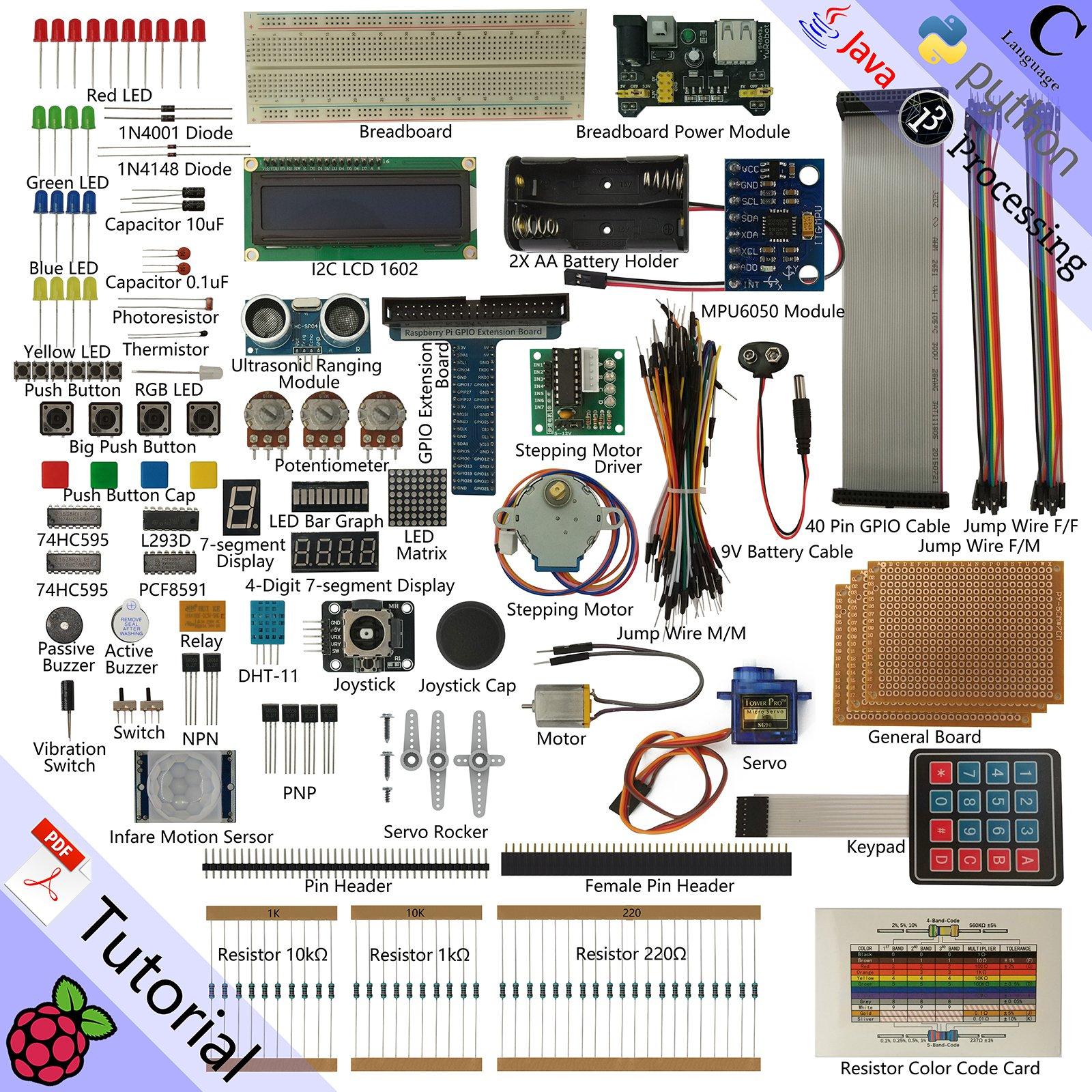 electronic project kits amazon co ukfreenove ultimate starter kit for raspberry pi, model 3b 3b 3a 2b 1b 1a zero
