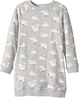 Stella McCartney Kids - Leona All Over Swan Printed Fleece Dress (Toddler/Little Kids/Big Kids)